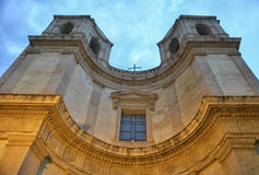 Baroque in a church of Noto Stock Image