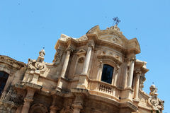 Baroque church in noto, sicily Royalty Free Stock Photos