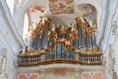 Baroque Church Organ. Great baroque church organ in Ochsenhausen, Germany Royalty Free Stock Image
