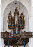 Baroque church organ in Gdansk, Poland Stock Image