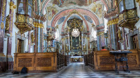 Baroque Church Prague, Czech Republic Royalty Free Stock Image