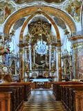Baroque Church Prague, Czech Republic Royalty Free Stock Photos