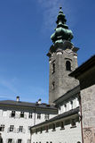 Baroque church in Salzburg royalty free stock images