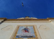 Baroque church with seagull in Salento - Italy. Baroque church with seagull - italy Stock Images