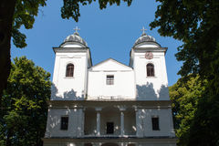 Baroque Church on Slanica Island, Orava, Slovakia Stock Images