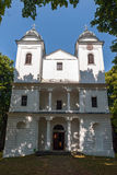 Baroque Church on Slanica Island, Slovakia stock image