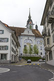 The baroque church St. Martin in Schwyz Royalty Free Stock Photo