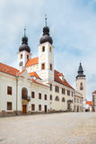 The Baroque Church in Telc, Czech Republic. The Baroque Church of the Name of Jesus in Telc, Czech Republic Royalty Free Stock Image