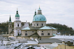Baroque church from top view Royalty Free Stock Photography