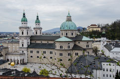 Baroque church from top view Stock Image