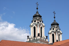 Baroque church towers Royalty Free Stock Photos