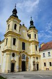Baroque church of Translation of Virgin Mary in Straznice, Czech Republic. Italian Baroque church of Translation of Virgin Mary in Straznice, Czech Republic royalty free stock image