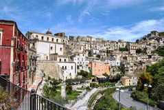 The baroque city overview. Panoramic view of Ragusa in Sicily Stock Photo