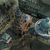 Baroque City Roof Top stock illustration