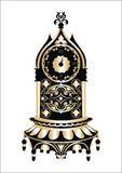 Baroque Classic Golden clock Vector Stock Photography