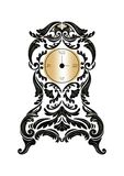 Baroque Classic Golden clock Vector Royalty Free Stock Photography