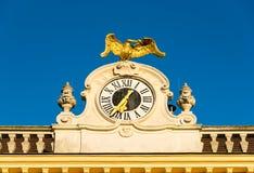 Baroque clock at schönbrunn, vienna Royalty Free Stock Photo