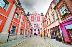 Baroque Collegiate Church in Poznan, Posen, Poland Royalty Free Stock Images