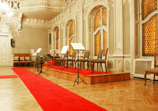 Baroque concert hall Stock Photography