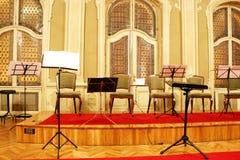 Baroque concert hall. In Zrenjanin Serbia Royalty Free Stock Photos