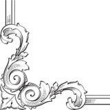 Baroque corner element Stock Image