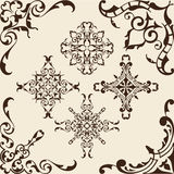 Baroque corner set Royalty Free Stock Image