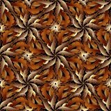 Baroque 3d seamless pattern. Vector leafy autumn background. Han. D drawn scroll leaves and vintage antique baroque style ornaments. Luxury floral design for Stock Photo