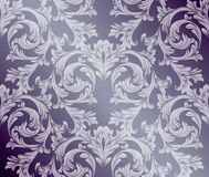 Baroque damask background. Ornament Decor for invitation, wedding, greeting cards. Vector illustrations. Baroque damask background. Ornament Decor for invitation Royalty Free Stock Image