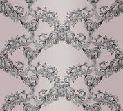 Baroque damask background. Ornament Decor for invitation, wedding, greeting cards. Vector illustrations. Baroque damask background. Ornament Decor for invitation Royalty Free Stock Photography