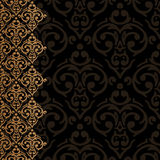 Baroque damask luxury border Royalty Free Stock Image
