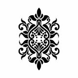 Baroque damask Mehndi Tattoo design royalty free stock images