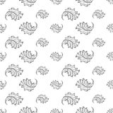 Baroque damask seamless pattern Royalty Free Stock Images
