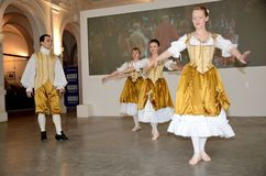 Baroque dance in Poland Royalty Free Stock Photo