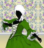 Renaissance Figure. A graphic digital image of a baroque dancer. Created in Adobe illustrator and finished in photoshop Stock Photo