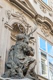 A baroque decoration on a house in Prague Royalty Free Stock Photo