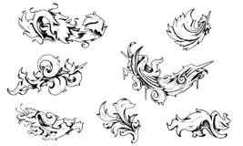 Baroque Decorations Royalty Free Stock Photos