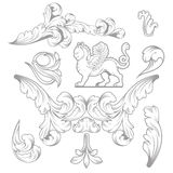 Baroque Design Elements and Page Decoration. Vector Set: Baroque Design Elements and Page Decoration, Vintage collection Royalty Free Stock Images