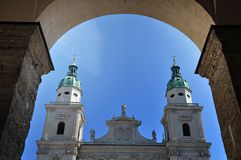 The baroque dome cathedral of Salzburg, Austria Stock Photos