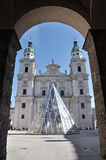 The baroque dome cathedral of Salzburg, Austria Royalty Free Stock Image