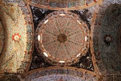 Baroque dome ceiling detail cathedral church Royalty Free Stock Photos