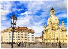 Baroque Dresden. Royalty Free Stock Photo