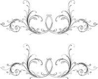 Baroque due stili: Tradizionale e calligrafia. illustrazione vettoriale