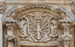 Baroque edifice in the ancient Syracuse Royalty Free Stock Image