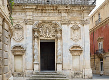Baroque edifice in the ancient Syracuse Stock Photo