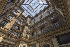 Baroque enclosed courtyard Stock Photography