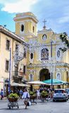Baroque exterior of the Church of Carmine, Sorrento. Italy Stock Photos