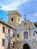 Baroque exterior of the Church of Carmine, Sorrento. Italy Royalty Free Stock Images