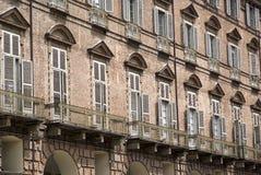 Baroque facade of a building in Turin Stock Photography