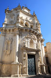 Baroque facade of Chiesa di San Matteo, Lecce, Italy Royalty Free Stock Images