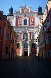 Baroque facade of church in Poznan Stock Photography